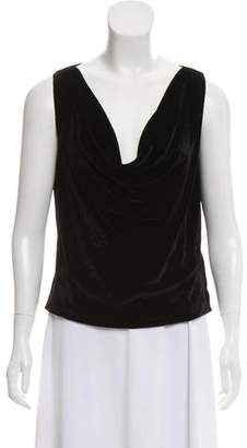 Burberry Sleeveless Velvet Top