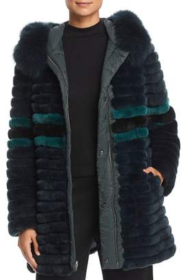 Maximilian Furs Reversible Rabbit Fur & Down Coat - 100% Exclusive
