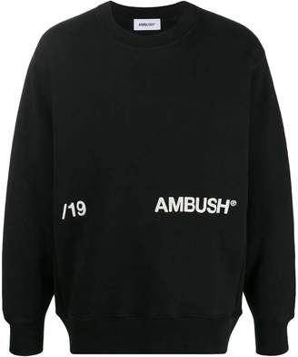 Ambush cotton logo crewneck sweater black