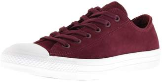 2366bd90f7241d Converse Chuck Taylor OX Leather Trainers Burgundy