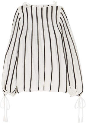 See by Chloe Striped Cotton-blend Blouse - White