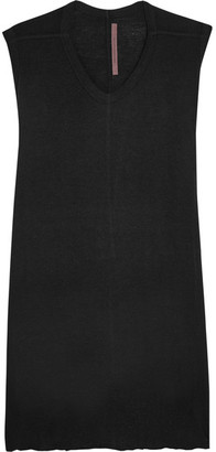Rick Owens - Oversized Jersey Tank - Black $355 thestylecure.com