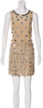 Matthew Williamson MW Sleeveless Embellished Mini Dress