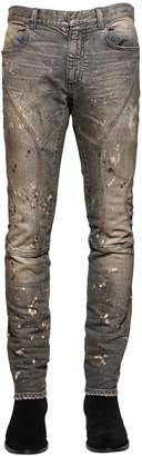Faith Connexion 16cm Skinny Bleached Painted Biker Jeans