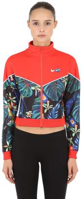 Nike Floral Cropped Track Jacket