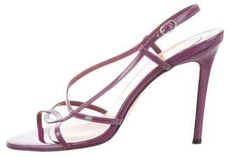 Christian Louboutin Slingback Patent Leather Sandals