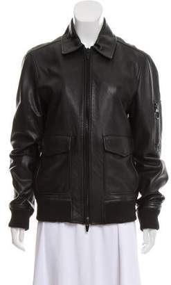 The Arrivals Leather Moto Jacket