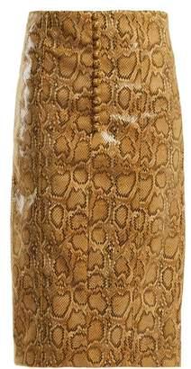BEIGE Hillier bartley Hillier Bartley - Faux Python Pencil Skirt - Womens Print