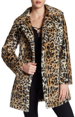 ABS by Allen Schwartz Double-Breasted Faux Fur Coat $395 thestylecure.com