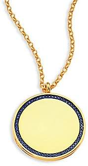 Astley Clarke Women's Cosmos Large Blue Sapphire& 14K Yellow Gold Locket Necklace