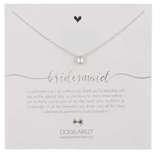 Dogeared Sterling Silver Bridal Bridesmaid Freshwater Pearl Charm Necklace