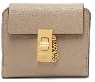 Chloé Drew Leather Wallet - Womens - Grey