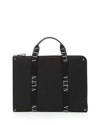 Valentino Men's VLTN Logo-Strap Document Case