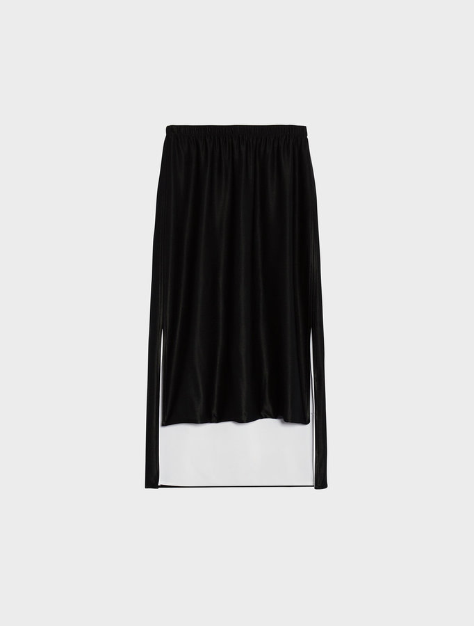 DKNY Convertible Step Hem Midi Skirt