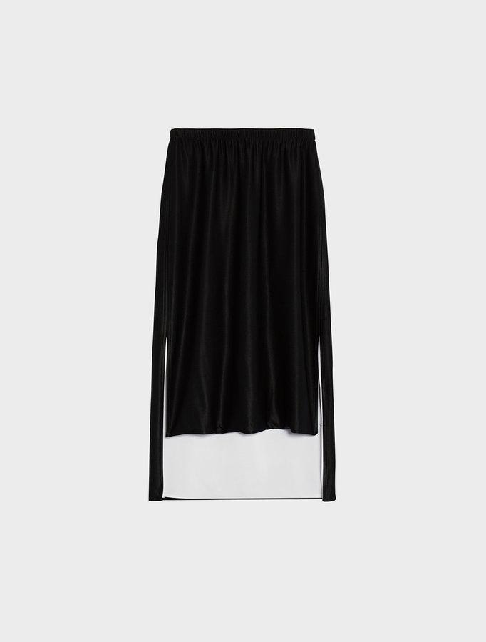 DKNYConvertible Step Hem Midi Skirt