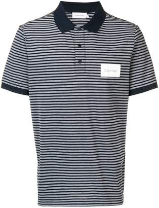Calvin Klein striped polo shirt