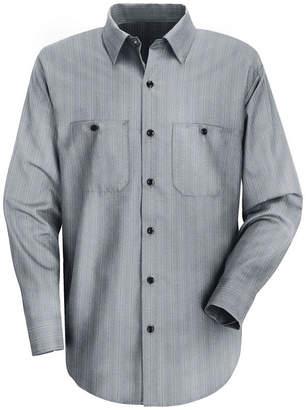 JCPenney Red Kap Industrial Stripe Work Shirt