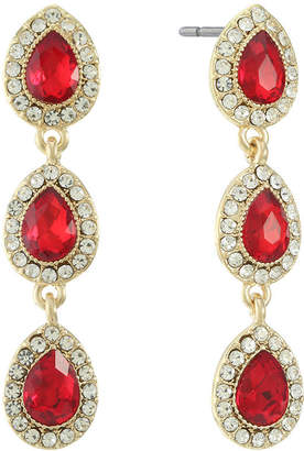 MONET JEWELRY Monet Jewelry Red Drop Earrings