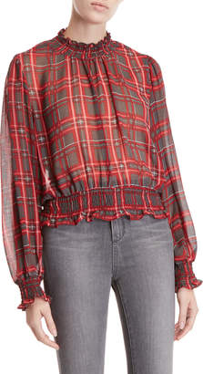 Romeo & Juliet Couture Romeo + Juliet Couture Plaid Long Sleeve Blouse