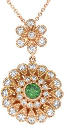 Alberto Green Diamond Flower Pendant