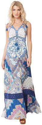 Hale Bob Raisa Patchwork Maxi Dress