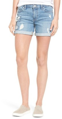 Women's Lucky Brand Ripped Roll Hem Denim Short $69.50 thestylecure.com