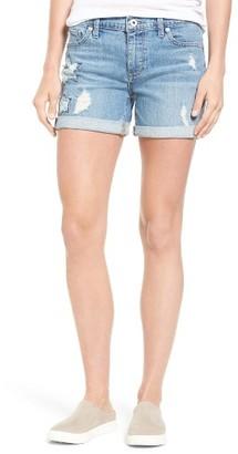 Women's Lucky Brand Ripped Roll Hem Denim Short $69.50 thestylecure.com