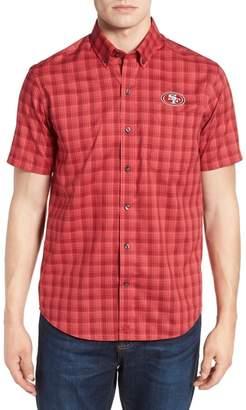Cutter & Buck San Francisco 49ers - Fremont Regular Fit Check Sport Shirt