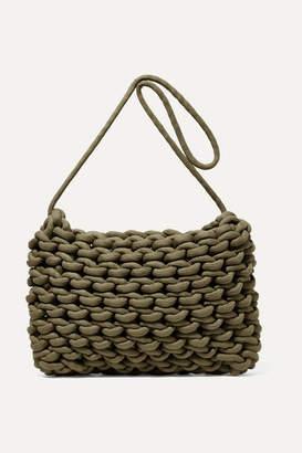 Alienina Fiona Woven Cotton Shoulder Bag - Army green