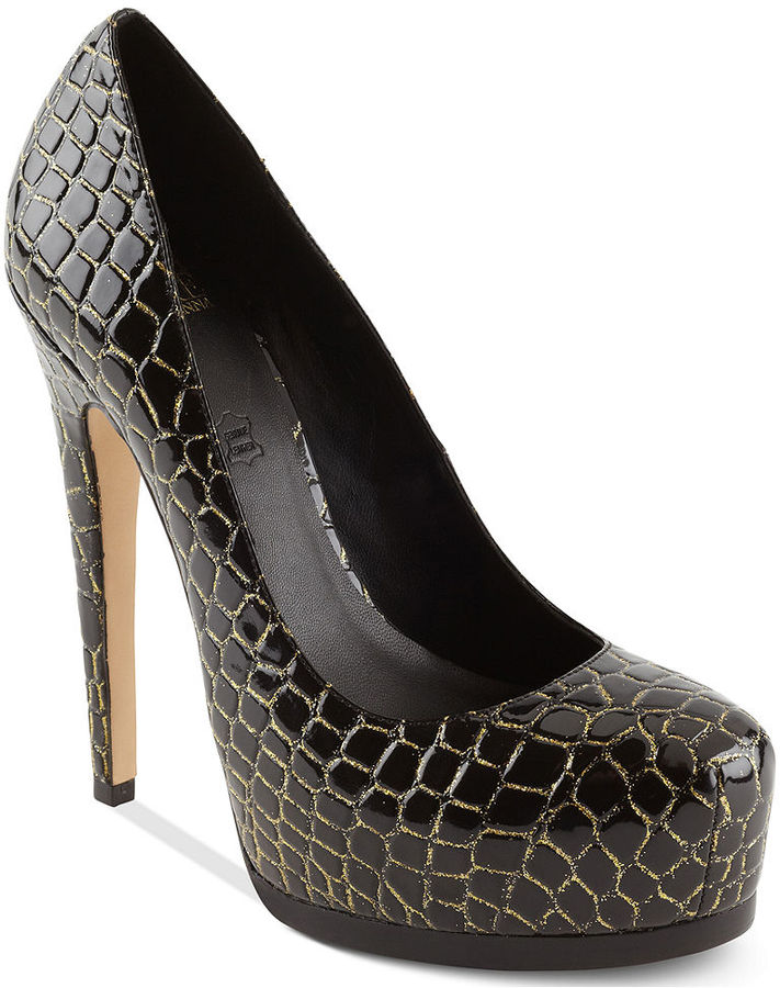 Truth or Dare by Madonna Shoes, Langlade Platform Pumps