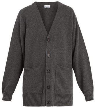 Raey Long Line Cashmere Cardigan - Mens - Charcoal