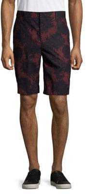 Vince Tropical Leaf Cotton Shorts
