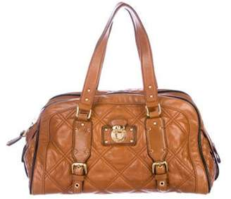 Marc Jacobs Quilted Emily Bowler Bag Cognac Quilted Emily Bowler Bag
