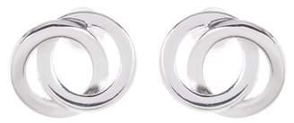 Argentovivo Interlocking Circles Stud Earrings