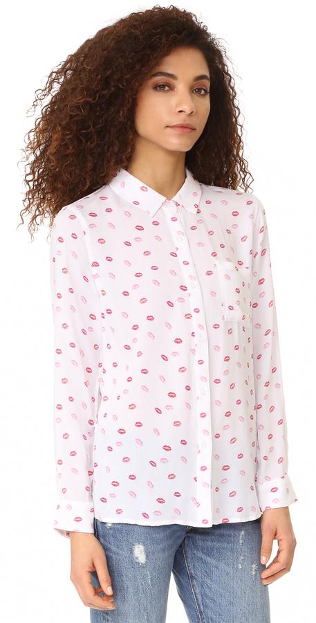 RAILS Rocsi Kiss Me Button Down Shirt 4