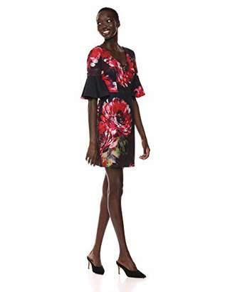 Trina Turk Trina Women's Float V Neck Ruffle Sleeve Dress