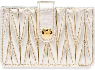 Miu Miu matelassé credit card holder