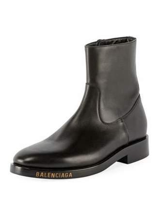 Balenciaga Men's Calfskin Leather Boots