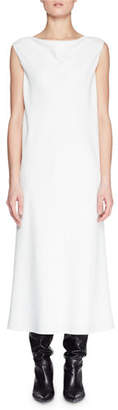The Row Bella Boat-Neck Sleeveless Long Shift Dress