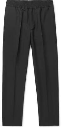Acne Studios Black Ryder Wool And Mohair-blend Trousers - Black