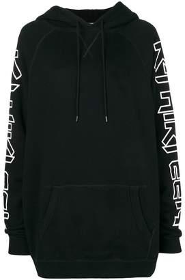 R 13 slogan print hoodie