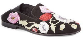 Women's Alexander Mcqueen Embroidered Slide Loafer $995 thestylecure.com
