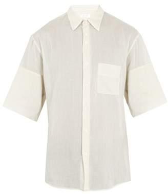 Wales Bonner Patch Pocket Short Sleeved Cotton Shirt - Mens - Beige