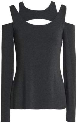 Bailey 44 Cold-Shoulder Cutout Stretch-Jersey Top