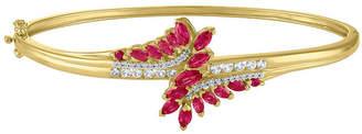 FINE JEWELRY Womens Red Ruby Bangle Bracelet