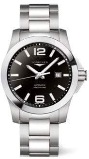 Longines Conquest Stainless Steel Automatic Watch