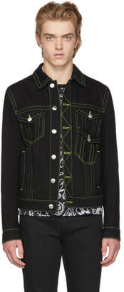 Versus Black Fluo Seams Denim Jacket