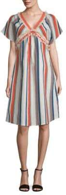 Moon River Stripe Woven Shift Dress