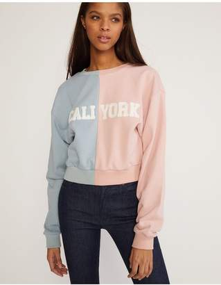 Cynthia Rowley Caliyork Cropped Sweatshirt