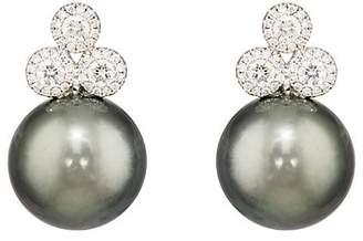 Samira 13 Women's Diamond & Tahitian Pearl Earrings